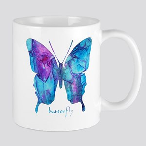 Electric Blue Butterfly Mug