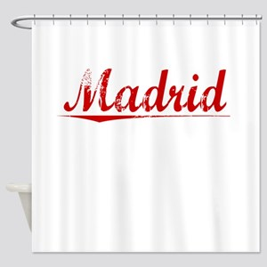 Madrid, Vintage Red Shower Curtain