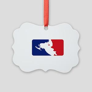Major League Snowmobiler Picture Ornament