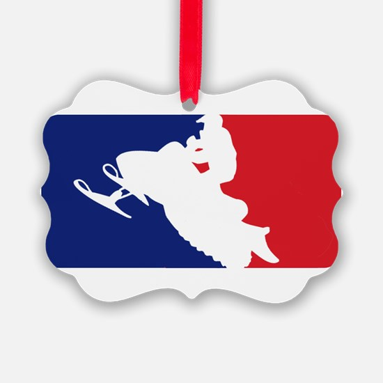 Major League Snowmobiler Ornament