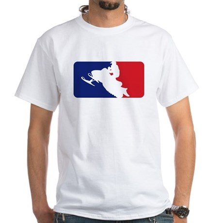 Major League Snowmobiler White T-Shirt