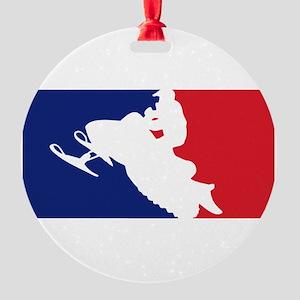 Major League Snowmobiler Round Ornament
