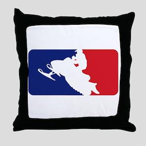 Major League Snowmobiler Throw Pillow