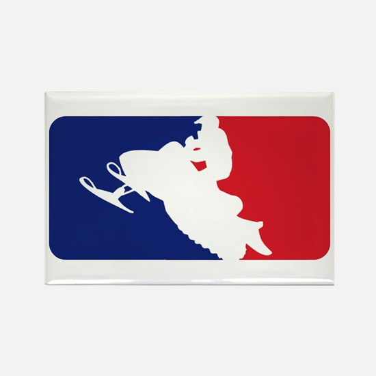 Major League Snowmobiler Rectangle Magnet