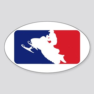 Major League Snowmobiler Sticker (Oval)