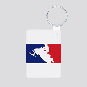Major League Snowmobiler Aluminum Photo Keychain