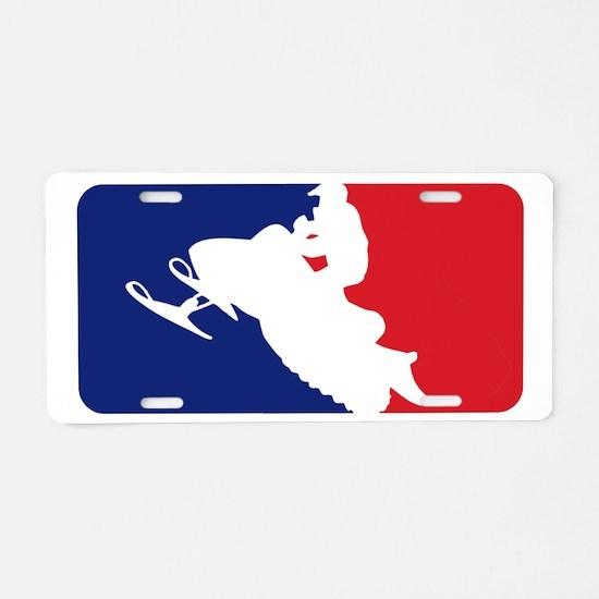 Major League Snowmobiler Aluminum License Plate