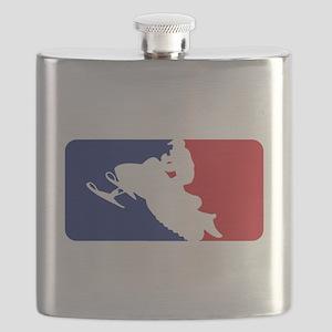 Major League Snowmobiler Flask