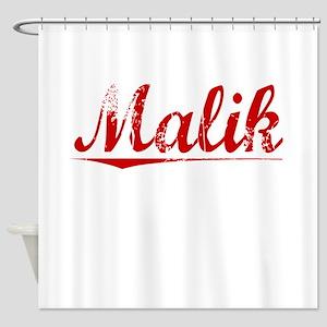 Malik, Vintage Red Shower Curtain