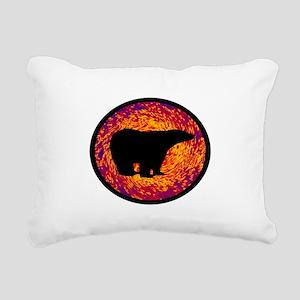 THE POLARS Rectangular Canvas Pillow