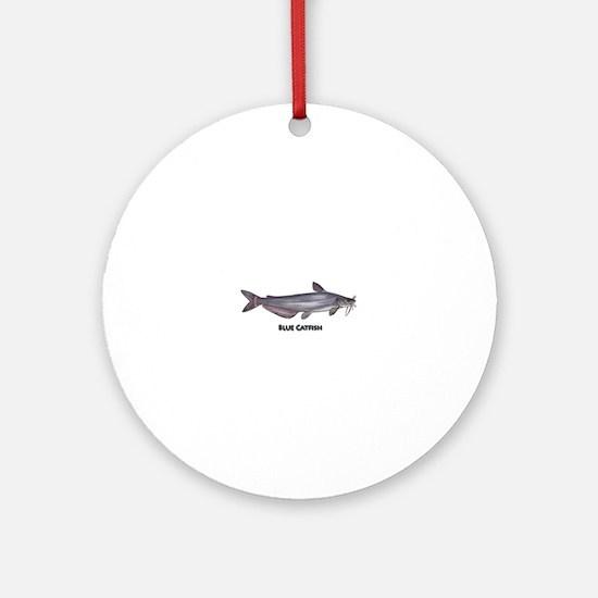 Blue Catfish Ornament (Round)