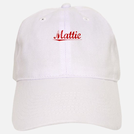 Mattie, Vintage Red Baseball Baseball Cap