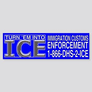 TURN 'EM INTO ICE - Bumper Sticker