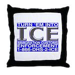 TURN 'EM INTO ICE -  Throw Pillow