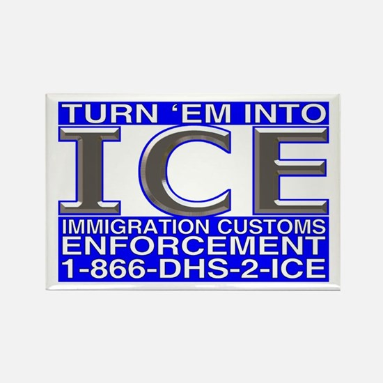 TURN 'EM INTO ICE - Rectangle Magnet (10 pack)