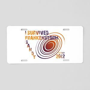 I Survived Frankenstorm Sandy 2012 Aluminum Licens
