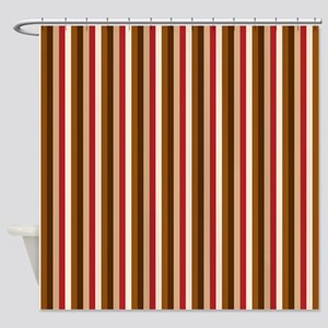 Autumn Vertical Stripes Shower Curtain