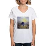 Norham Castle by Turner Women's V-Neck T-Shirt