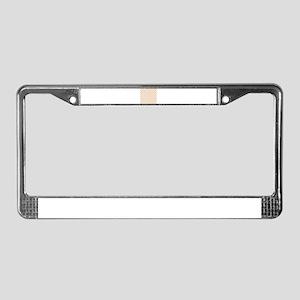 Medium Sock Monkey Face Print License Plate Frame