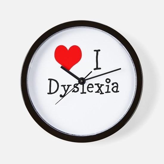3 I Dyslexia Wall Clock