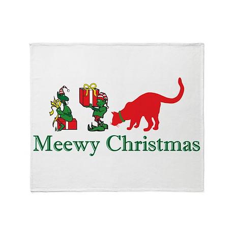 Christmas Kitty Cats Throw Blanket
