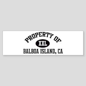 Property of BALBOA ISLAND Bumper Sticker