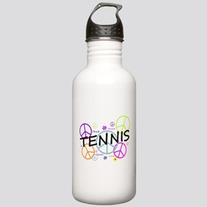 Colored Peace Signs Tennis Stainless Water Bottle