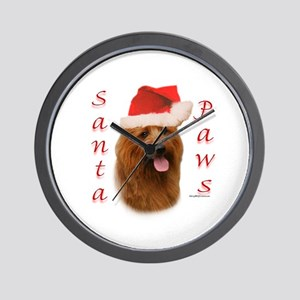 Australian Terrier Paws Wall Clock