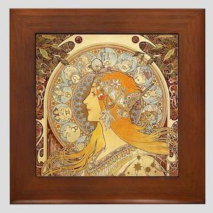 Zodiak by Mucha Framed Tile