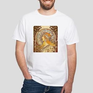 Zodiak by Mucha White T-Shirt