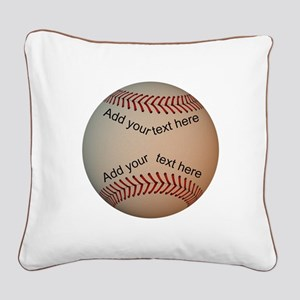 Baseball Square Canvas Pillow