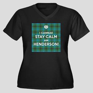 Henderson Women's Plus Size V-Neck Dark T-Shirt