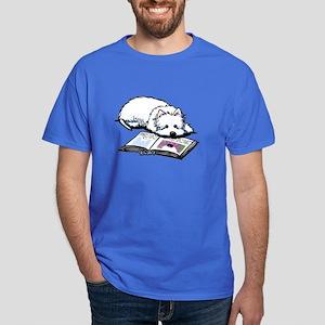 Book Lover Wendell Westie Dark T-Shirt