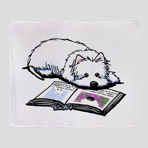 Book Lover Wendell Westie Throw Blanket