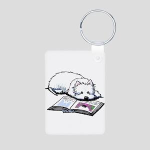 Book Lover Wendell Westie Aluminum Photo Keychain