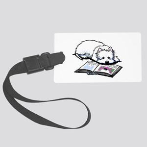 Book Lover Wendell Westie Large Luggage Tag