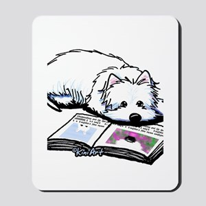 Book Lover Wendell Westie Mousepad