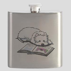 Book Lover Wendell Westie Flask