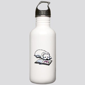 Book Lover Wendell Westie Stainless Water Bottle 1