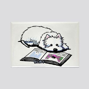 Book Lover Wendell Westie Rectangle Magnet
