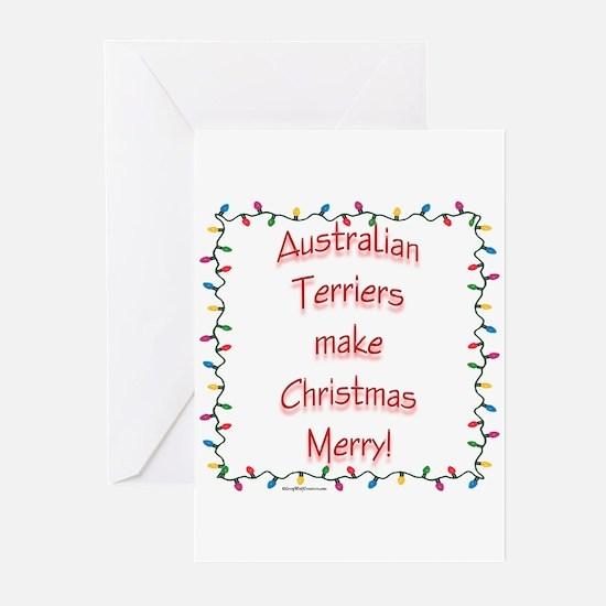Australian Terrier Merry Greeting Cards (Pk of 10)