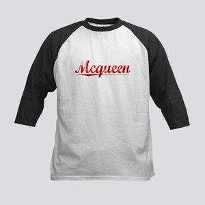 Mcqueen, Vintage Red Kids Baseball Jersey