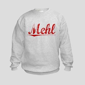 Mehl, Vintage Red Kids Sweatshirt