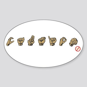 ASL TM? Oval Sticker