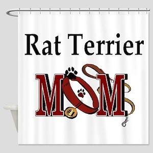 Rat Terrier Mom Shower Curtain