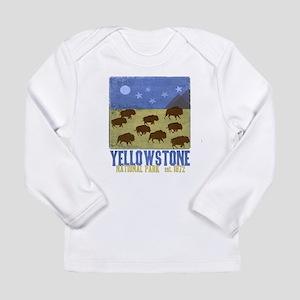 Yellowstone Bison Scene Long Sleeve T-Shirt