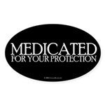 Medicated Oval Sticker