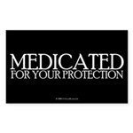 Medicated Rectangle Sticker