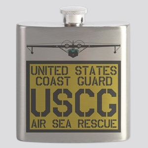 USCGSquare-TRANS Flask