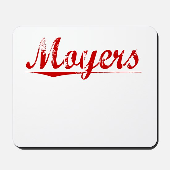 Moyers, Vintage Red Mousepad